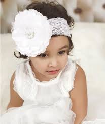 white flower headband buy baby girl white lace headband with big white flower baby