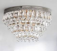 Crystal Drops For Chandeliers Clarissa Crystal Drop Extra Large Flushmount Potterybarn For