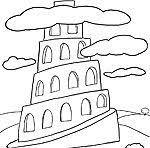 tower babel coloring lesson 5 torre babel