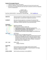 Resume Wording Examples by Chronological Resume Definition Format Layout 103 Examples