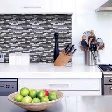 Smart Tiles Kitchen Backsplash Smart Tiles Murano Metallik Peel Stick Decorative Mosaic Wall Tile