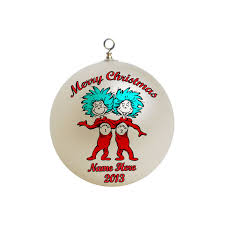 personalized dr seuss thing one and thing two ornament
