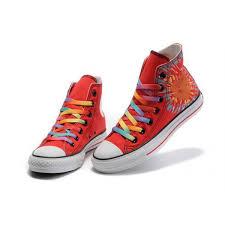 Converse High Heels Women Converse U0027all Star U0027 Sunflower Shoes Canvas High Heels Red