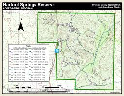Riverside State Park Trail Map by Harford Springs Reserve A Riverside County Park California