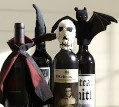 Pottery Barn Bat Halloween Or Gothic Wine Bottle Toppers Bat Skull Witches Hat