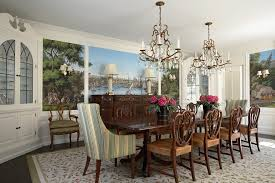 built in cabinets dining room dining room traditional with floral