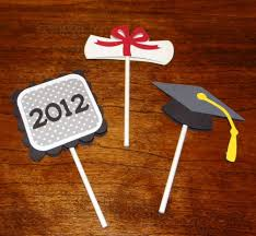 Promotion Decorations Best 25 Graduation Cupcake Toppers Ideas On Pinterest