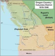 Manifest Destiny Map Oregon Boundary Dispute Wikipedia