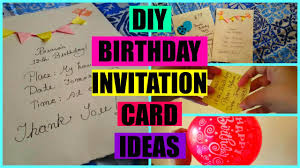 How To Make Birthday Invitation Cards At Home Diy Birthday Invitation Card Youtube
