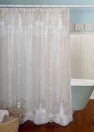 Pine Cone Lace Curtains Lace Shower Curtain Lighthouse Heritage Oldeworldelace