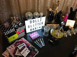 Hair And Makeup Station Dollz Glitter Bar Pop Up Salon Offering Glitter Makeup And Hair