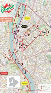 Map Of Budapest Marathon Course Map 32nd Spar Budapest Marathon