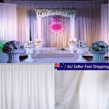 Wedding Backdrop Ebay 2 4m White Sheer Silk Drape Panels Hanging Curtains Backdrop