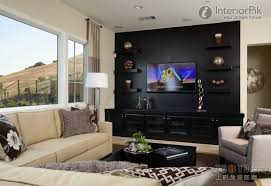 Floating Shelves For Tv by Effect Picture Of Classic Black Living Room Tv Background Wall