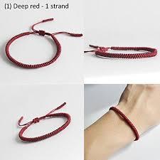 knot rope bracelet images Tale lucky rope bracelet tibetan buddhist handmade knots jpg