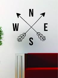 arrows compass decal sticker wall vinyl art decor home wanderlust arrows compass decal sticker wall vinyl art decor home wanderlust adventure travel