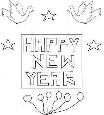 new year birds coloring printable page for kids
