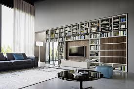 Wohnzimmerschrank Ohne Tv Fach Moderne Tv Wohnwand Mit Bücherregal Von Livitalia Mit Glasvitrine