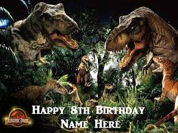 jurassic park cake topper jurassic world edible icing cake toppers personalise for your