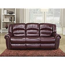 abbyson living bradford faux leather reclining sofa amazon com abbyson living winston leather reclining sofa in brown