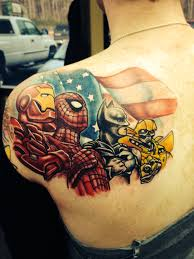 superhero tattoos for men tattoo comic book tattoo and book tattoo