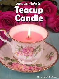 tea cup candles candles archives running with