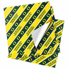 yellow wrapping paper oregon ducks gift bags wrap oregon wrapping paper