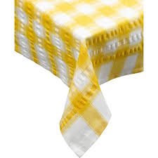 amazon com seersucker round checked tablecloth cotton check