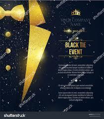 Black Card Invitation Black Tie Event Invitation Elegant Black Stock Vector 471757724