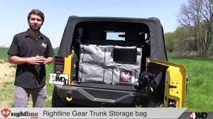 jeep tailgate storage jeep storage bags by rightline gear youtube