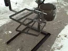 Cooking Over Fire Pit Grill - portable campfire grilling stand with rotisserie youtube