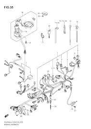 2012 suzuki v strom 650 abs dl650a wiring harness e33 parts