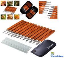 wood carving tools kit 17 pcs carbon steel chisel set whetstones