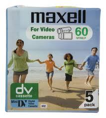 dv cassette 30975 mini dv cassette 60 minutes 5 pack une cassette num礬rique