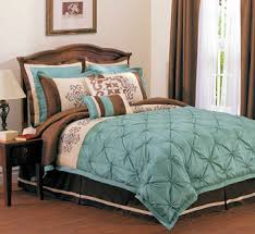 Aqua And White Comforter Luxurious Aqua Blue Ivory And Chocolate Brown Bedroom With Dark