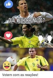 Chions League Memes - aqualmelhorironaldo chions league votem com as reações meme