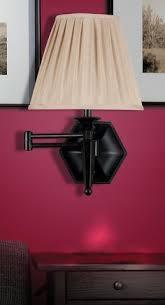 Bronze Swing Arm Table Lamp Tan And Brown Binary Print Shade Bronze Swing Arm Wall Lamp