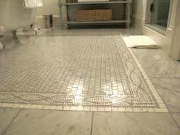 marble mosaic inset tiles transitional bathroom everyday