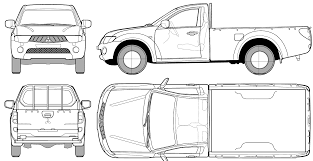 mitsubishi truck 1998 car blueprints чертежи автомобилей mitsubishi