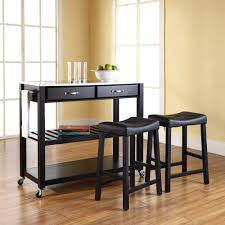 portable kitchen island with seating saddle barstools interior