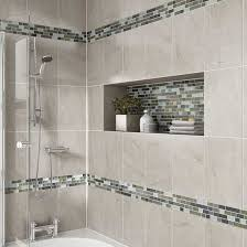 ideas for tiling a bathroom details photo features castle rock 10 x 14 wall tile with glass