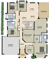 house plans with media room australian house plan 4 bedroom study lounge media room