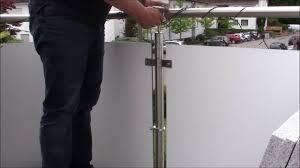sonnenschirmhalter balkon proof montagevideo