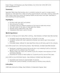 Resume For Retail Job by Download Merchandiser Resume Haadyaooverbayresort Com