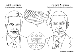 romney vs obama coloring pages