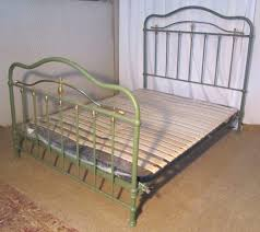 painted french brass and iron double bed antiques atlas