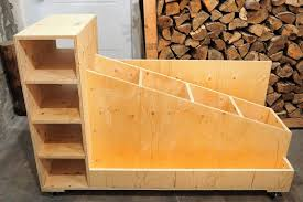 Plywood Storage Rack Free Plans by The Ultimate Lumber Storage Cart Free Plans Diy Montreal