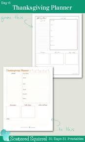 free thanksgiving planner printables week planner printable