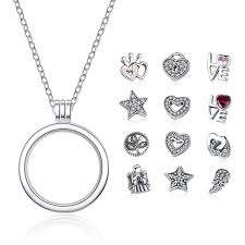 floating hearts necklace images 100 925 sterling silver 12 pcs celestial love family forever jpg