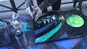 Spray Paint Artist - amazing spray paint art in new york city youtube